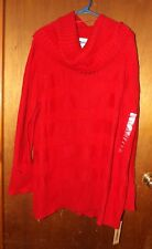 DKNY Jeans Red Cowl Neck Long Sleeve Sweater - Size 26/28