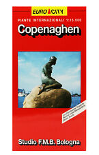 COPENAGHEN PIANTA CITTÀ 1:15.000 [CARTA/MAPPA/CARTINA] STUDIO F.M.B. BOLOGNA