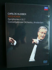 DVD carlos kleiber: Beethoven Symphony Nº 4 + 7 amsterdam concertgebouw sinfoni