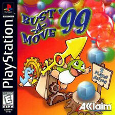 BUST-A-MOVE '99 PlayStation I PS1 Video Game BUBBLE DRAGON 2 Player Action