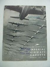 ORIGINAL 1936 IMPERIAL AIRWAYS CHRISTMAS GAZETTE NEWSLETTER – Empire Flying Boat