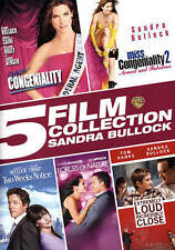 5 Film Collection: Sandra Bullock (DVD, 2015, 5-Disc Set) Free Shipping!