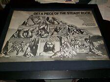 Cheap Trick, Brian Wilson, Derringer Rare Cbs Records Promo Poster Ad Framed!