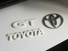 Toyota MR2 SW20 JDM GT Turbo Rear Badges in White