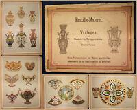 Emaille-Malerei. Vorlagen für das Bemalen von Thongegenständen um 1890 sf