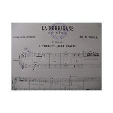 WIDOR Ch. M. LA Korrigane Suite Orchestre 1891 partition sheet music score