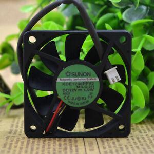 SUNON KDE1206PFV2 6010 6CM 12V 1.9W 4000RPM 14.0CFM 2-pin silent fan