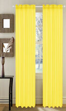 "Set of 4 Sheer Voile Curtains, Panels, Window Drapes 55"" X 84"" polyester sheers"