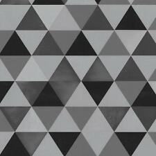 Graphics Alive Modern Geometric Triangles Black and Grey Wallpaper 13267-30