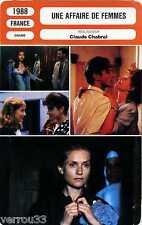 Fiche Cinéma. Une affaire de femmes. Claude Chabrol France 1988