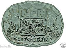 Men's Belt Buckle HESSTON NFR 1983 25TH ANNIVERSARY SERIES First Edition