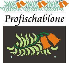 Schablone, Dekorschablone, Wandschablone, Malerschablonen, Fries - Glockenblumen