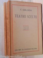 TEATRO SCELTO Carlo Goldoni Introduzione commenti ampi estratti delle Memorie
