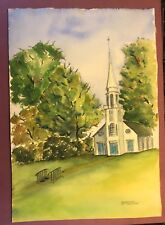 Marcia Miner Watercolor Art Church & Postcards Signed By Artist