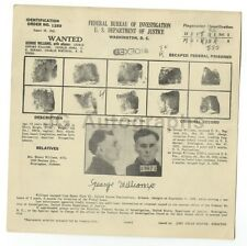 FBI Wanted Sheet - George Williams - Escapee - Alabama, Gerogia - 1935