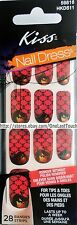 28 KISS Nail Dress Set GOBBLINS Art Strip/Applique/Decal HALLOWEEN Black Skulls