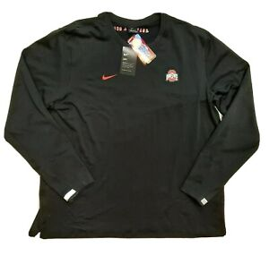 NWT Nike Ohio State Buckeyes Therma Black Long Sleeve Pullover Mens Size 2XL $75