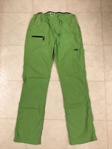 Koi Lite Cargo Scrub Pants Lime Green Size Small Tall