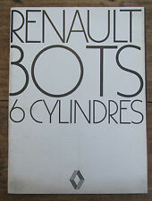 ANCIENNE BROCHURE RENAULT 30 TS 6 CYLINDRES