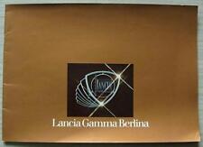 LANCIA GAMMA BERLINA LF Car Sales Brochure c1977 #88795872