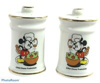 Vintage Walt DISNEY Productions Chef MICKEY MOUSE Salt & Pepper Shakers S&P Set