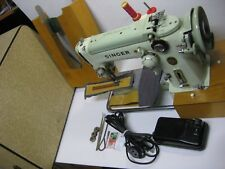 SINGER 320k ELECTRIC FOOT PEDAL OPERATED SEWING MACHINE WITH CARRY CASE.