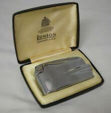 Ronson Waraflame Patented Gas Lighter w/Case Needs Repair