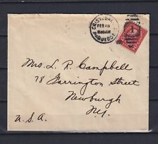 CANAL ZONE 1920, Cristobal Paguebot, Cancel to Newburgh, Cover, Used