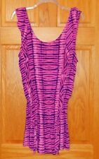 Victoria's Secret Small Pink Purple Ruffle Swim Cover Tunic Dress New!