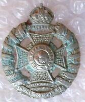 WW1 The Rifle Brigade (Prince Consort's Own) Regiment Cap Badge WM 48 mm Antique