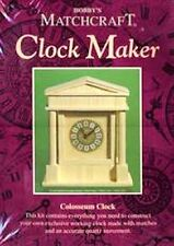 Colosseum Clock Matchcraft matchstick model craft kit Clock Maker - NEW
