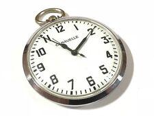 Antique CARAVELLE Men's Mechanical Pocket Watch - Winds & Ticks Away!