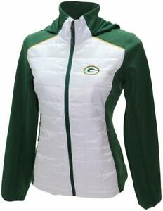 G-III 4her Green Bay Packers Women's First Down Packable Jacket - White/Green