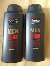 Lot of (2) Suave Men Thick & Full 2 in 1 Shampoo and Conditioner, 28 OZ bottle