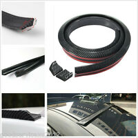 DIY Black Carbon Fiber Car Auto Rear Spoiler Wing Lip Protector Sticker Body Kit