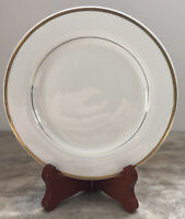 Vintage Johnson Bros England China Lot Of 10 Salad Bread Plates Gold & White