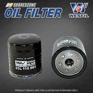 Wesfil Oil Filter for Volkswagen Multivan Transporter T5 Turbo Diesel 4Cyl 16V