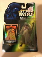 Star Wars The Power Of The Force Figure Tusken Raider With Gaderffii Stick