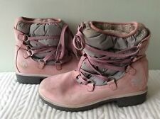 TIMBERLAND real leather ladies pink lace up ankle boot size 7 (US 9W)