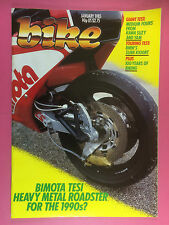 Motorcycle-january 1985-bmw k100rt-Bimota 750 tesi-kawasaki gp