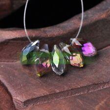 20PCS 12x6mm Teardrop Shape Tear Drop Glass Faceted Loose Crystal Beads