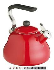 Red Whistling Stove Top Hob Kettle -Suitable  for Aga  RAYBURN  - Le'Xpress