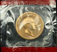 "New listing U.S. Mint Medal President Millard Fillmore Mint Cello 1 5/16"" Brass Denver Mint"
