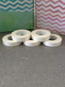 "5 Rolls Double Sided Foam Sticky Tape WHITE 30 ft x 5/8"" TOTAL each roll 6'x5/8"""