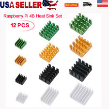 12x Raspberry Pi 4B Heat Sink Set Radiator Cooling Kit Cooler fr Raspberry Pi 4B