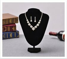 Elegant Silver Rhinestone Necklace, Earrings Bridal Prom Wedding Jewelry Set