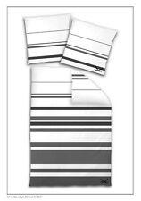 Sansibar Bettwäsche 135x200 cm Mako Satin Streifen basalt Sylt Bettbezug günstig