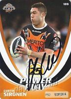 ✺Signed✺ 2013 WESTS TIGERS NRL Card CURTIS SIRONEN Power Play