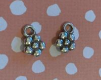 Brighton Small Daisy Flowers Silver for Earrings/Necklace Mini Lot of 2
