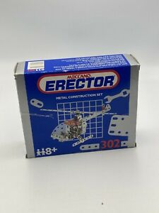 Vintage 1993 Meccano Erector Metal Construction Helicopter Set #302 Open Box Toy